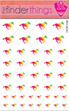Running Horse Rasta Rainbow Nail Art Decal Sticker Set