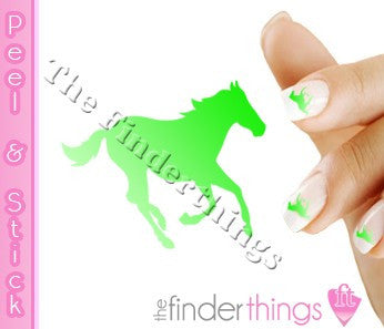 Running Horse Green Fade Nail Art Decal Sticker Set - The FinderThings
