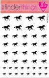 Running Horse Black Nail Art Decal Sticker Set - The FinderThings