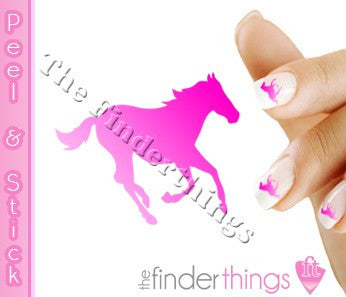 Running Horse Pink Fade Nail Art Decal Sticker Set - The FinderThings