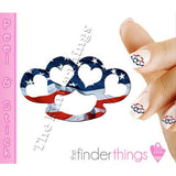 American Flag Brass Knuckle Hearts Nail Art Decal Sticker Set - The FinderThings