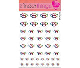Leopard Print Brass Knuckle Hearts Nail Art Decal Sticker Set