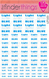 Light It Up Blue Autism Awareness Puzzle Piece Nail Art Decal Sticker Set - The FinderThings