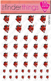 Red Devil Smiling Nail Art Decal Sticker Set - The FinderThings