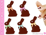 Easter Chocolate Bunny Candy Nail Art Decal Sticker Set