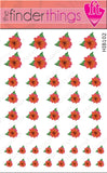 Red Hibiscus Flower Nail Art Decal Sticker Set - The FinderThings