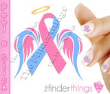 Pregnancy Loss Support Ribbon Nail Art Decal Sticker Set - The FinderThings