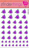 Purple Hibiscus Flower Nail Art Decal Sticker Set - The FinderThings