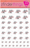 Infected Biohazard Zombie Nail Art Decal Sticker Set - The FinderThings
