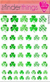 St. Patrick's Day Shamrock Four Leaf Clover Nail Art Decal Sticker Set