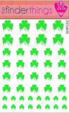 St. Patrick's Day Dripping Shamrock Four Leaf Clover Nail Art Decal Sticker Set
