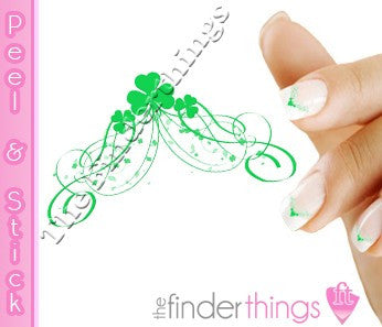 St. Patrick's Day Shamrock Clover Tip Nail Art Decal Sticker Set