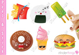 Kawaii Fast Food Kute Nail Art Decal Stickers - The FinderThings