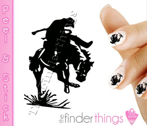Cowboy Western Rodeo Horse Equestrian Nail Art Decal Sticker Set - The FinderThings