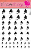 Cowboy Western Rodeo Horse Equestrian Nail Art Decal Sticker Set