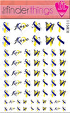 Down Syndrome Support Ribbon Variety Nail Art Decal Sticker Set - The FinderThings