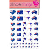 Australia Flag Country Pride Mix Nail Art Decal Sticker Set - The FinderThings