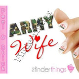 Army Wife Military Nail Art Decal Sticker Set - The FinderThings