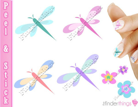 Dragonfly Dragonflies Nail Art Decal Sticker Set - The FinderThings