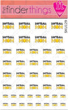 Softball Mom Mother Nail Art Decal Sticker Set