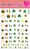 St. Patrick's Day Clover Variety Nail Art Decal Sticker Set - The FinderThings