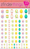 Easter Egg Decoration Nail Art Decal Sticker Set - The FinderThings