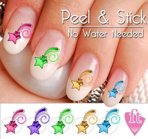 Shooting Star Nail Art Decal Sticker Set - The FinderThings