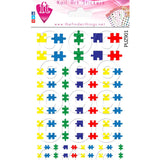 Autism Awareness Puzzle Pieces Nail Art Decal Sticker Set