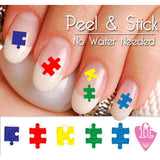 Autism Awareness Puzzle Pieces Nail Art Decal Sticker Set - The FinderThings
