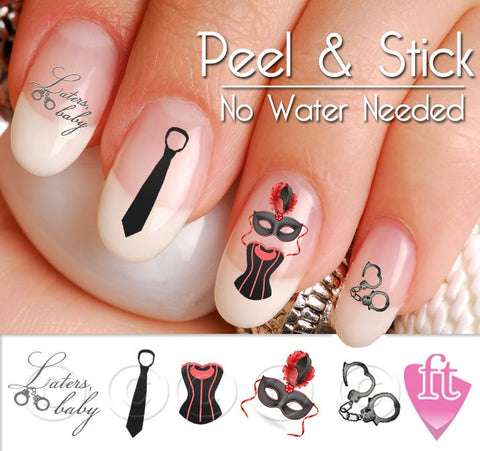 Fifty Shades of Grey Laters Baby Mix Nail Art Decal Sticker Set - The FinderThings