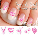 Pink Camo Buck Deer Nail Art Decal Sticker Set - The FinderThings
