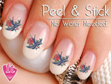 Swallow Sparrow Rose Tattoo Inspired Nail Art Decal Sticker Set