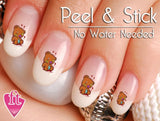 Bloody Teddy Bear Nail Art Decal Sticker Set - The FinderThings
