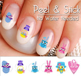 Easter Owls and Candy Nail Art Decal Sticker Set - The FinderThings