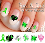 Brain Injury Awareness Nail Art Decal Stickers - Brain Damage Awareness Nail Art - The FinderThings