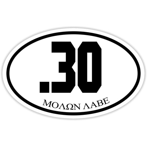 .30 Caliber Shooter Sticker Decal - Firearms Sports Molon Labe Bumper Sticker - The FinderThings