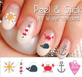 Summer Beach Fun Nail Art Decal Sticker Set