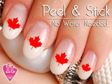 Canada Maple Leaf Nail Art Decal Sticker Set - The FinderThings