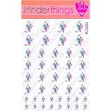Purple Swirl Flower Abstract Nail Art Decal Sticker Set - The FinderThings