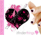 Black Heart and Pink Splash Nail Art Decal Sticker Set - The FinderThings