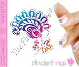 Paisley Flower Abstract Nail Art Decal Sticker Set - The FinderThings
