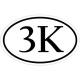 3K Marathon Runner Sticker Decal - Race Running Bumper Sticker - The FinderThings