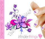 Cherry Blossom Flower Nail Art Decal Sticker Set - The FinderThings