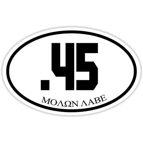 .45 Caliber Shooter Sticker Decal - Firearms Sports Molon Labe Bumper Sticker - The FinderThings