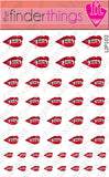 Vampire Lips and Bite Nail Art Decal Sticker Set