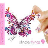 Abstract Butterfly Flourish Nail Art Decal Sticker Set