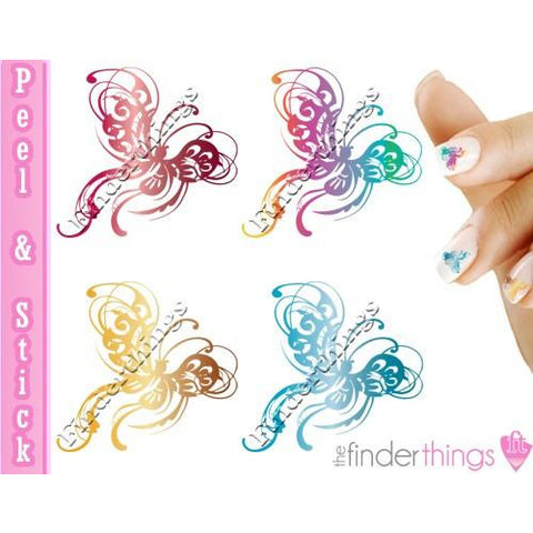 Butterfly Swirl and Flourish Nail Art Decal Sticker Set - The FinderThings