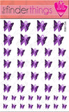 Relay for Life Purple Ribbon Butterfly Support Nail Art Decal Sticker Set - The FinderThings