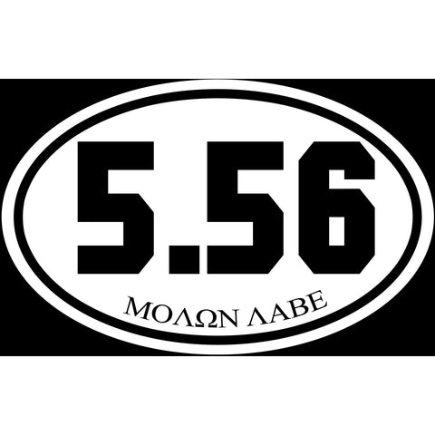 5.56 Caliber Shooter Sticker Decal - Firearms Sports Bumper Sticker