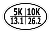 26.2 13.1 3k 5k Marathon Runner Sticker Decal - Race Running Bumper Sticker - The FinderThings